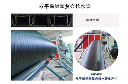 HDPE埋地双平壁钢塑复合管